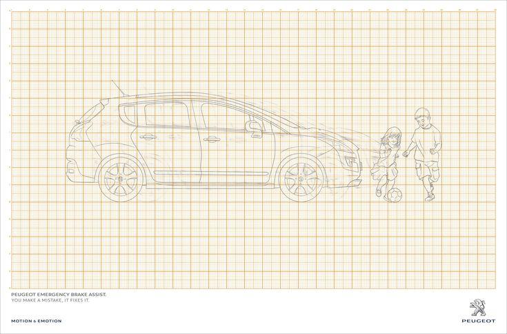 Peugeot Emergency Brake Assist. You make a mistake, it fixes it. Advertising Agency: Y&R, São Paulo, Brazil Creative Director: Victor Sant&#0