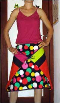 Une jupe qui fleure bon lété photo / patron