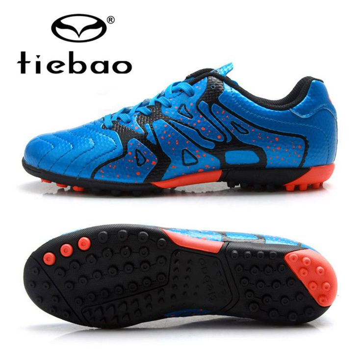 TIEBAO Professional Soccer Cleats 30-40 Size Boys Teenagers New Arrival Football Boots TF Turf Soles Blue Shoes Scarpe Da Calcio