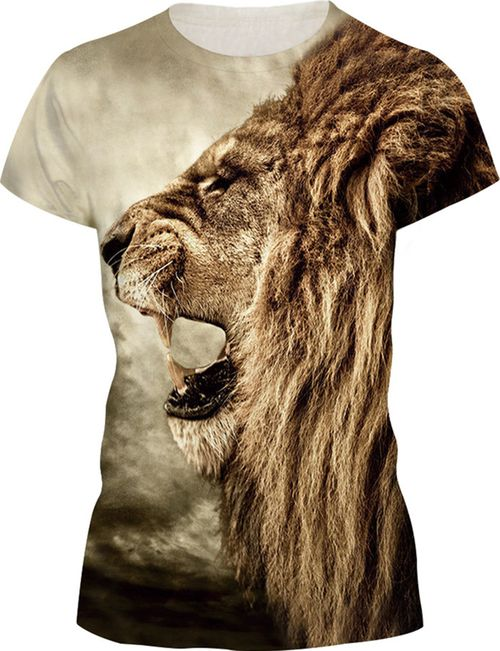 34148e34 Women Lion King Brown T-shirt in 2019 | T-shirt | Mens tee shirts ...