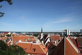 Cielo, Casa, Riga, Ciudad, Cielo Azul