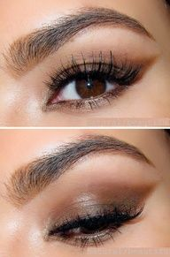 pretty makeup for brown eyes… Makeup