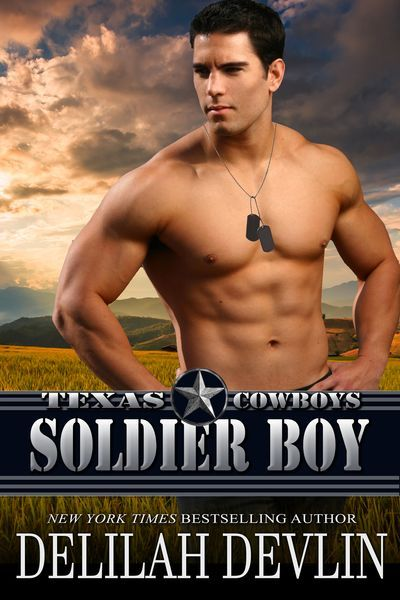 Just home from war, Mac McDonough is in a world of hurt only a woman can cure. Her jealous stalker doesn't stand a chance... https://www.amazon.com/Soldier-Boy-Texas-Cowboys-Book-ebook/dp/B076V7GGGH