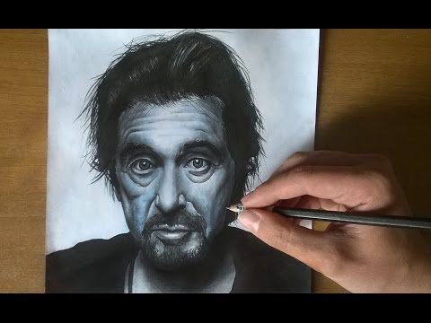 Al Pacino ( Godfather , Scarface ) Speed Drawing - YouTube