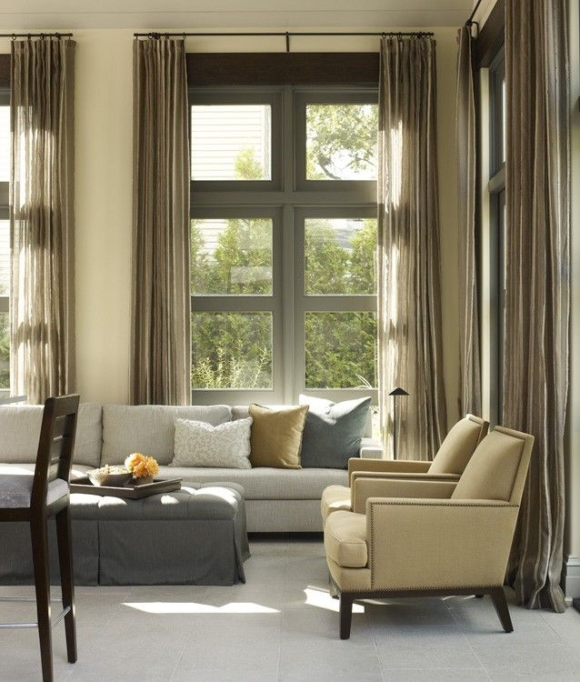 Chic Living Room with Lovely windows by Hickman Design - Chicago