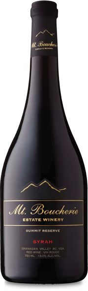 Product Name: Mt. Boucherie Syrah Reserve    Appelation: Okanagan Valley    Variety: Wine    Country of origin: Canada