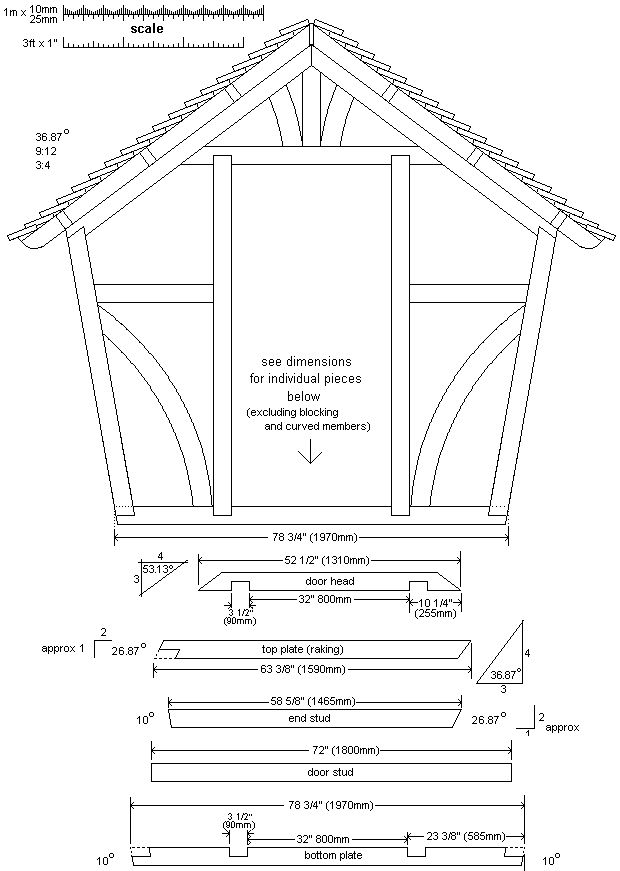 front wall-frame plan