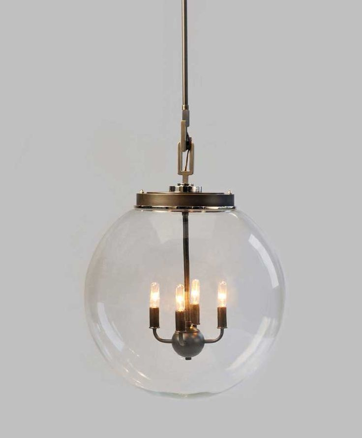 "18"" W Globe Pendant Via Urban Electric Company"