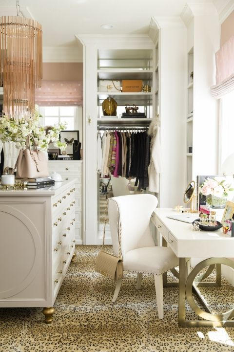 A Cheetah Rug Covers The Floor Of Blogger Rachel Parcellu0027s Walk In Closet  Surrounded By