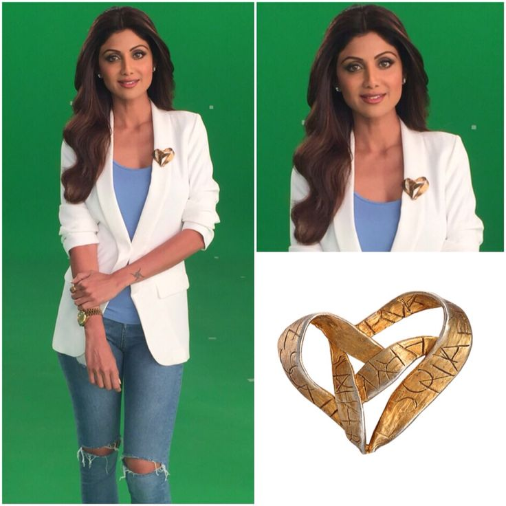 How gorgeous does Shilpa Shetty look in our vintage Sonia Rykiel heart brooch for a recent shoot! We love ❤️