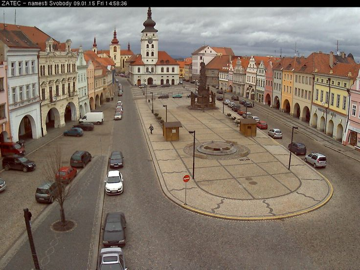 Žatec - Czech Republic Live webcams City View Weather - Euro City Cam #CzechRepublic #českárepublika #webcam #niceview #travel #beautifulplace #street #view #cestovní