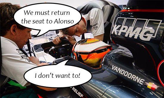 Stoffel Vandoorne moet stoeltje aan Alonso teruggeven