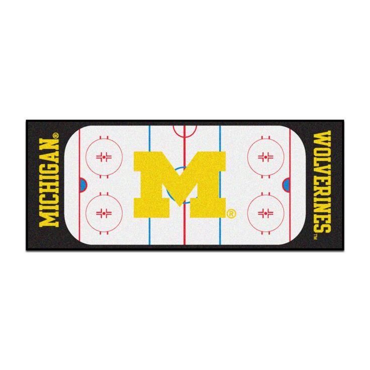 Michigan Wolverines Hockey Rink Runner Rug