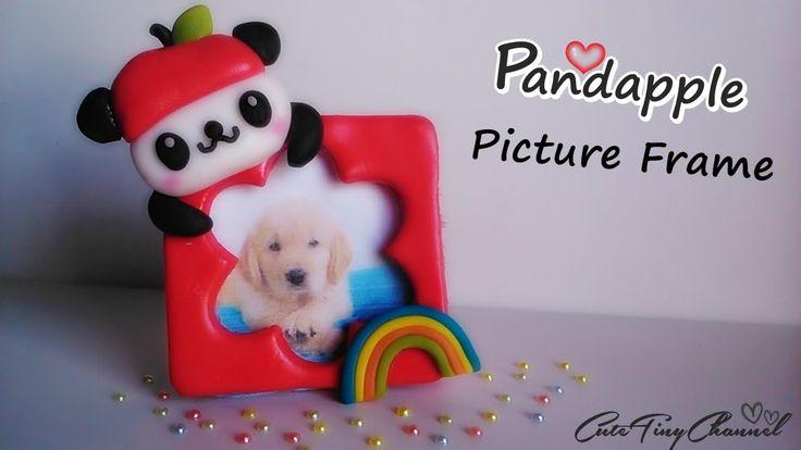 Tutorial ◕ω◕ Pandapple Mini Picture Frame Polymer Clay / Mini Portafotos Pandapple de Arcilla Polimérica