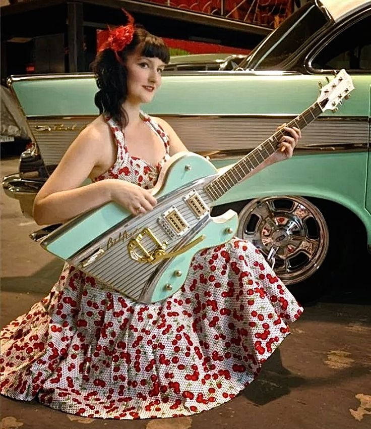 Electric Guitar Made With Vintage Car Parts