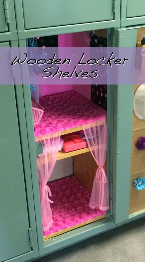 DIY Back to School Projects for Teens and Tweens - How To make your own Wooden Locker Shelves via thriftyfun