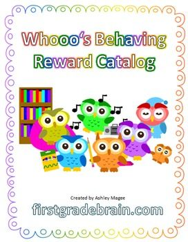 Tired of spending money on items for your treasure box? Try using a behavior catalog instead! This editable PowerPoint contains 24 ideas for FREE rewards for your students! It features a super cute owl theme! Give each student an incentive chart or a punch card (not included, use your