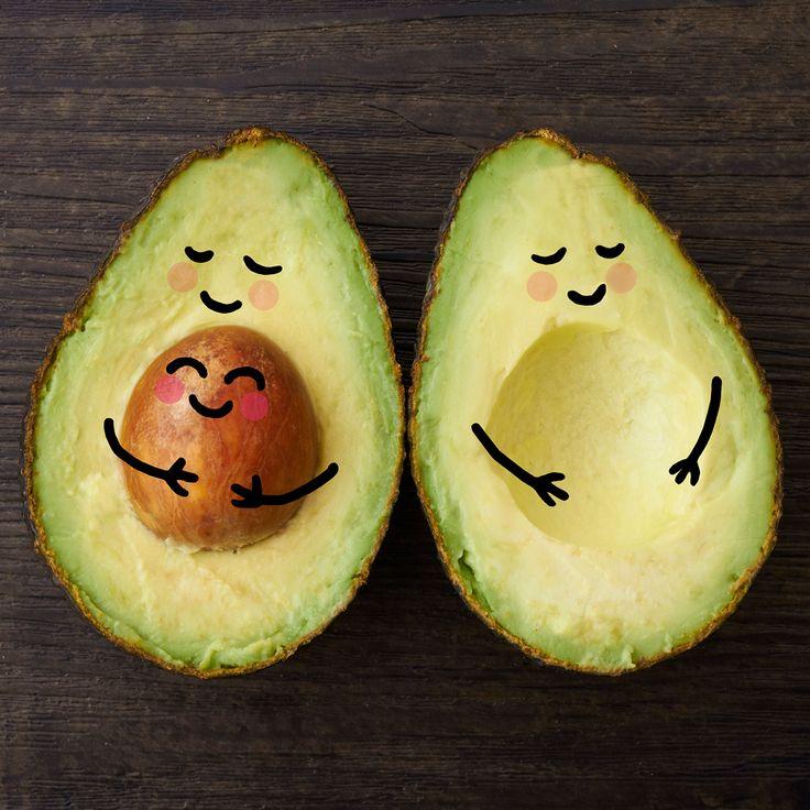 #avocados #hug #love #cute #photo