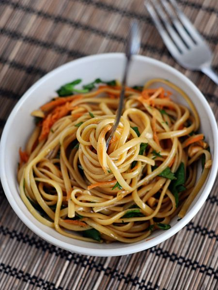 Spicy Thai Noodles*** almost too spicy. And there was too much dressing. Half dressing, use 1/2 tsp chili flakes.