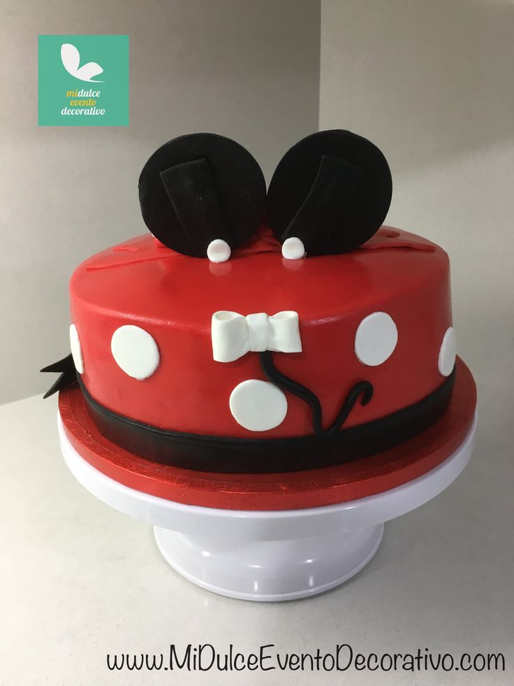 Tarta fondant Minnie Mouse