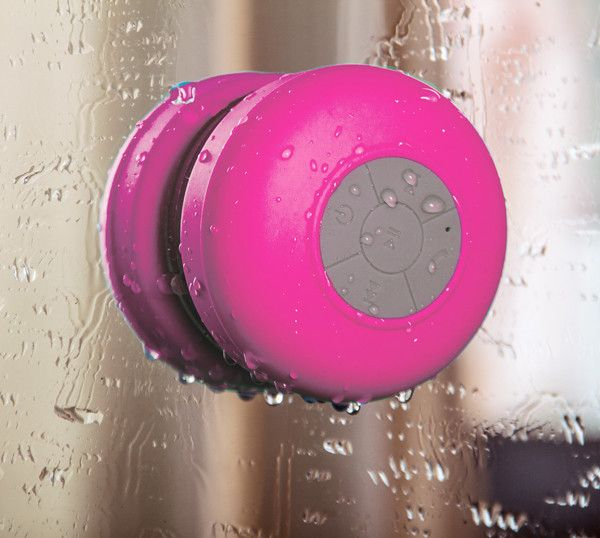 Rose Wireless Portable Waterproof Suction Shower Mini Bluetooth Mic Speaker