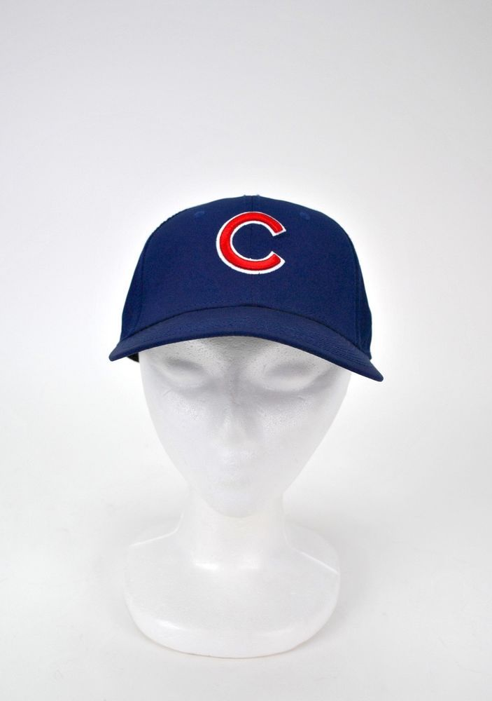 4da7e84014bd7 Chicago Cubs Nike Dri-Fit Hat Blue Adjustable MLB Baseball Wrigley Field   Nike  ChicagoCubs