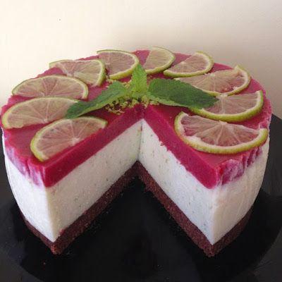 Sütés nélküli lime-os torta (paleo) ~ Éhezésmentes Karcsúság Szafival