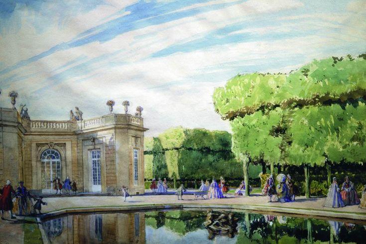 Alexandre Nikolayevich Benois (1870-1960) Une journée de printemps en Trianon. 1921, Tretyakov Gallery Moscow