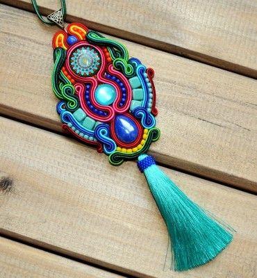 Sutasz WISIOR kolorowy gypsy UNIKAT folk frędzle
