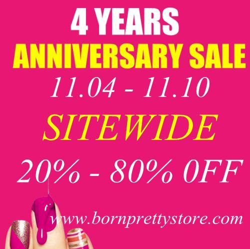Anniversary sale!  http://www.bornprettystore.com/