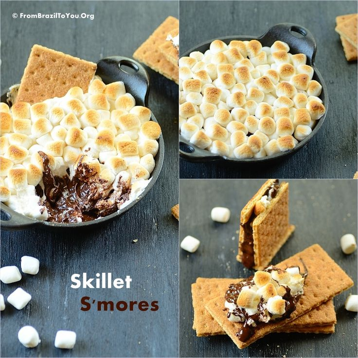 Skillet S'mores -- Three-ingredient, scrumptious, ooey gooey treat!!!