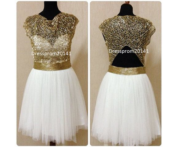Sexy prom dresses,Homecoming dresses,Flower girl's dresses  Golden prom dressesBridal gownsMother's by DressProm20141 on Etsy, $130.00