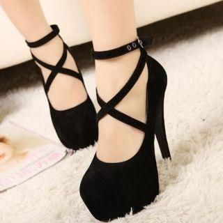Buy 'Mancienne – Cross-Strap Platform Stilettos' at YesStyle.com plus more China items and get Free International Shipping on qualifying orders.