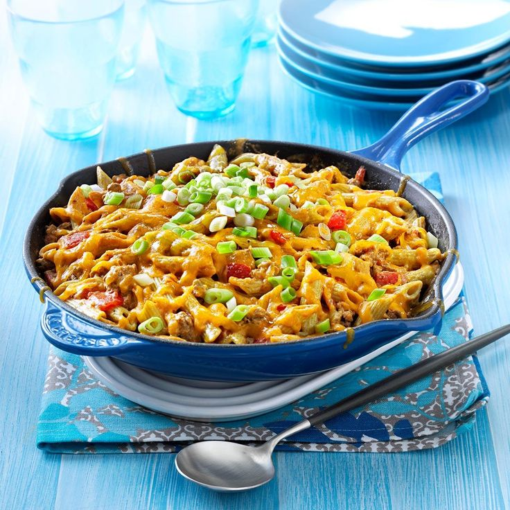 Family-Favorite Cheeseburger Pasta Recipe -I created this recipe to satisfy a cheeseburger craving. What a delicious, healthy classic! —Raquel Haggard, Edmond, Oklahoma