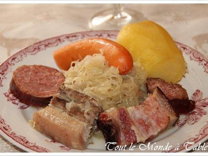 Mettre la choucroute dans une passoire et la rincer sous l'eau froide. - Recette Plat : Choucroute alsacienne traditionnelle par Petitegentiane25