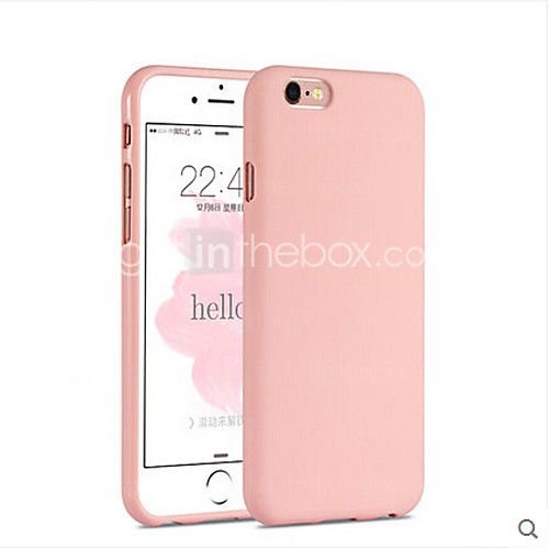 menina rosa cor sólida elegante simples caso macio para iphone 6 / 6s mais - USD $3.99