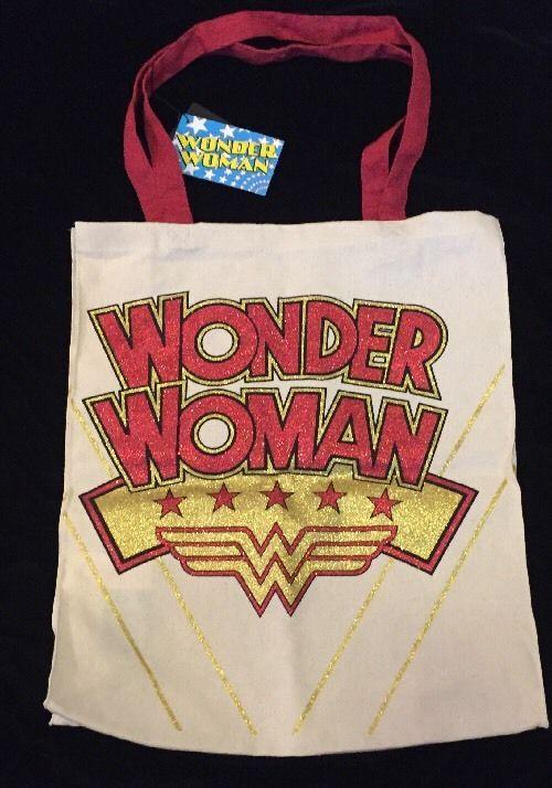 PRIMARK Wonder Woman Tote Bag DC Comics Diana Logo Shopping Atmosphere Glitter  | eBay