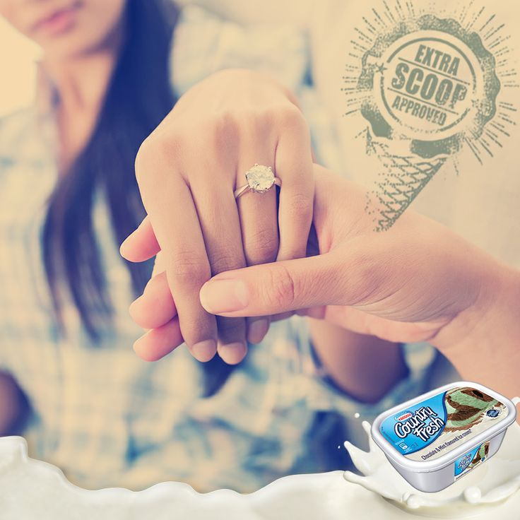 SHE SAID YES!!! If that doesn't deserve an extra scoop, then we don't know what does! Right, ice cream fans? :-D