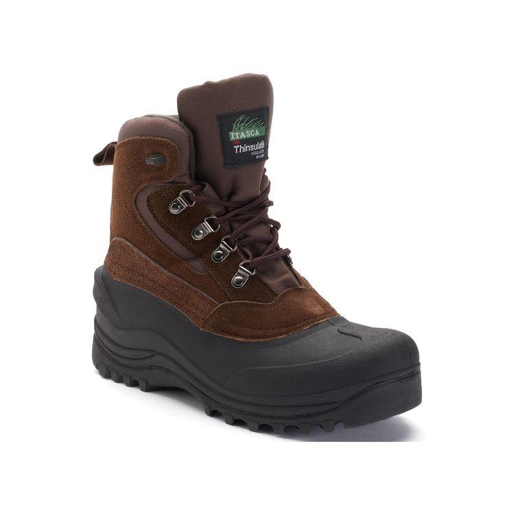 Itasca Lutsen Mens' Waterproof Winter Boots, Size: 10, Brown