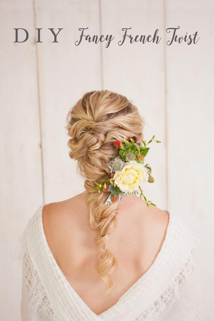 DIY Fancy French Twist Bridal Updo