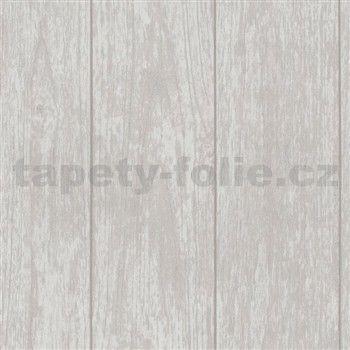 Tapety na zeď Stones and Style - dřevěný obklad světle hnědý - SLEVA
