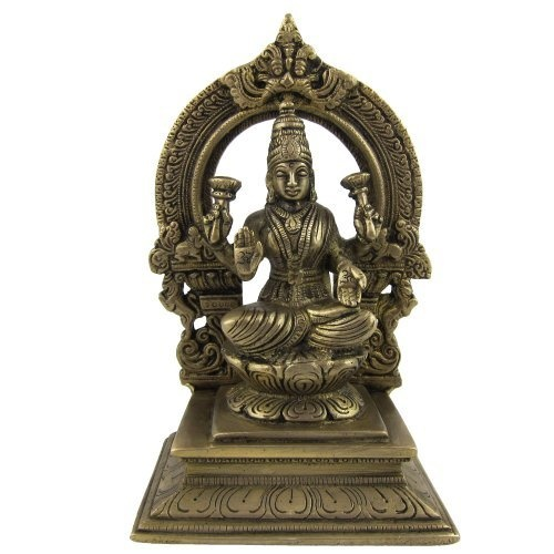 Amazon.com: Collectible Figurines Hindu Religious Brass Sculpture Laxmi 4.5 X 3 X 7: Home & Kitchen