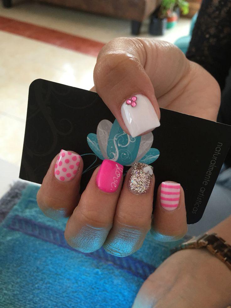 Nails art, pink Nails, acrylic nails