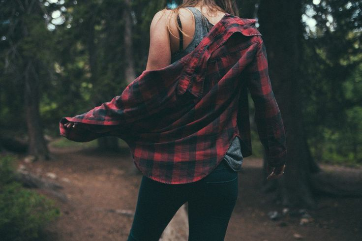 Indie Grunge Girl with Flannel Shirt in the woods - http://ninjacosmico.com/get-best-flannel-shirts/