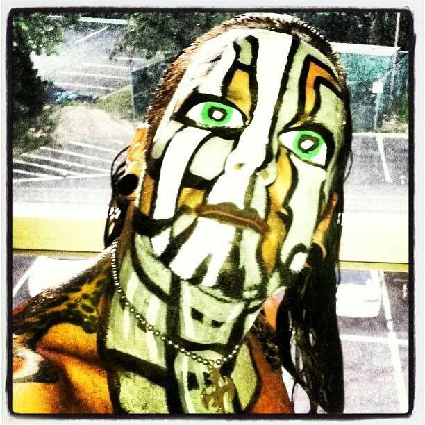 Jeff Hardy Blue Face Paint