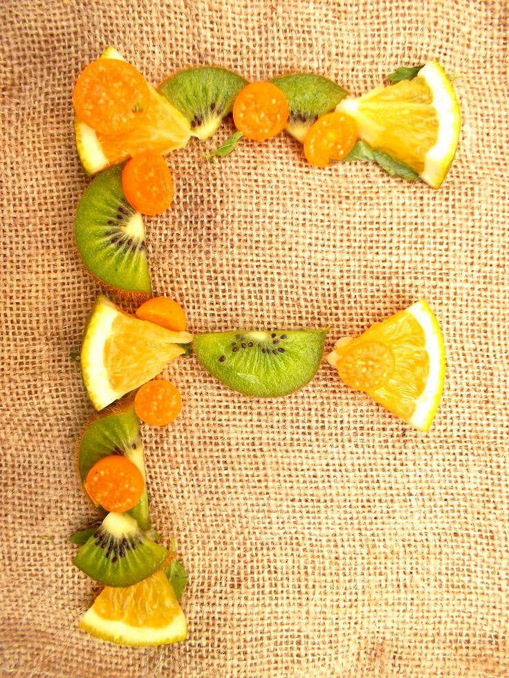 F tipografia citricos