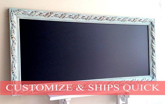 KITCHEN CHALKBOARD Narrow Long Bulletin Board by ShugabeeLane