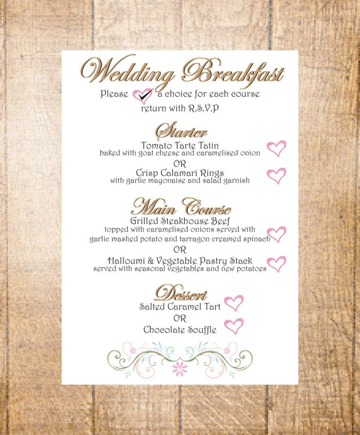 Best 25 Wedding Breakfast Menus Ideas On Pinterest