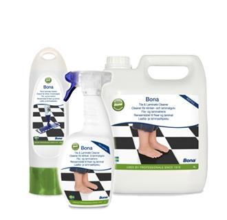 Reinigen / schoonmaken van tegelvloeren, laminaat, vinyl en andere harde vloeren - een compleet professioneel assortiment.    Kan gebruikt worden met de Bona Spray Mop.