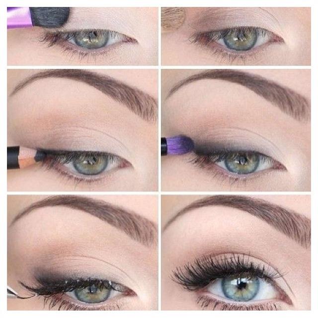 Very simple eyeshadow:)